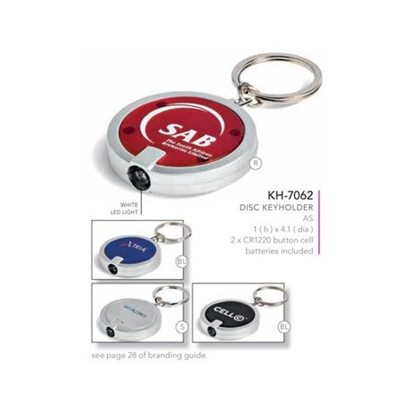 Disc LED Torch Keyring