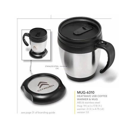Heatwave USB Coffee Warmer & Mug