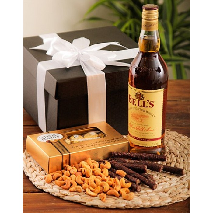 Chocolate Gift Boxes South Africa : Whiskey nuts biltong chocolate corporate hamper